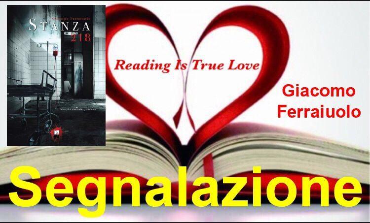 """Segnalazione """"Stanza 218"""" di Giacomo Ferraiuolo"""